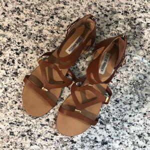 Steve Madden Gladiator Sandals - Cognac